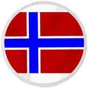 Norway Flag Round Beach Towel
