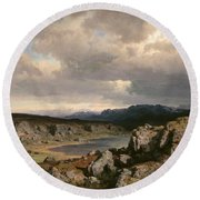 Norwegian Highlands Round Beach Towel