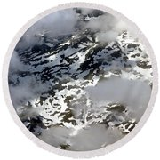 Norwegian Mountains From On High Round Beach Towel