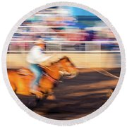 Norwood Colorado - Cowboys Ride Round Beach Towel
