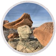 Nose To The Grindstone Round Beach Towel