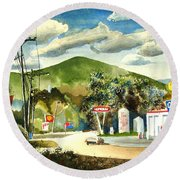 Nostalgia Arcadia Valley 1985  Round Beach Towel