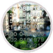 Not Just Numbers Round Beach Towel