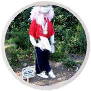 Not So Scary Junior Miss Scarecrow Round Beach Towel