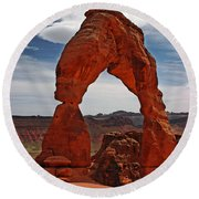Not The Usual Delicate Arch View Round Beach Towel