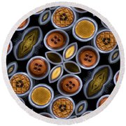 Not Your Mothers Button Box Round Beach Towel