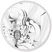 Nothing But Design Round Beach Towel