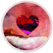 Nothing But Love Round Beach Towel