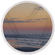 Nothing More Beautiful Round Beach Towel