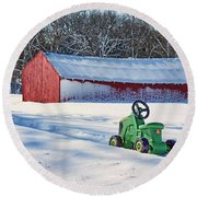 Nothing Runs Like A Deere #1 Round Beach Towel