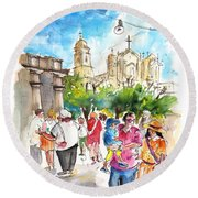 Noto 06 Round Beach Towel