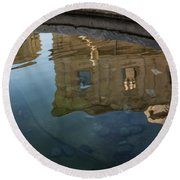 Noto's Sicilian Baroque Architecture Reflected Round Beach Towel