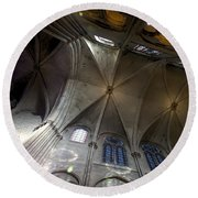 Notre Dame Ceiling South Round Beach Towel