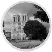 Notre Dame De Paris 2b Round Beach Towel