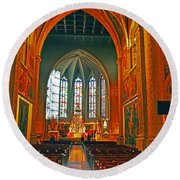 Notre Dame Of Luxembourg Round Beach Towel