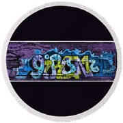 Nouveau Graffiti Round Beach Towel