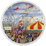 Novelties At The Carnival Round Beach Towel