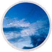 November Clouds 002 Round Beach Towel