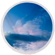 November Clouds 005 Round Beach Towel