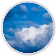 November Clouds 007 Round Beach Towel
