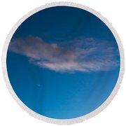 November Clouds 008 Round Beach Towel