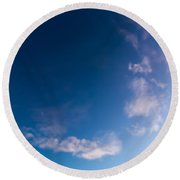 November Clouds 009 Round Beach Towel