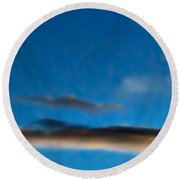 November Clouds 010 Round Beach Towel