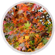 November's Maples Round Beach Towel