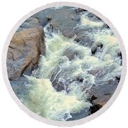 November's Streaming Waters Round Beach Towel