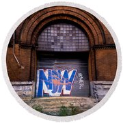 Now Graffiti Round Beach Towel