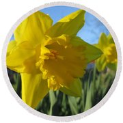 Now That's A Daffodil Round Beach Towel
