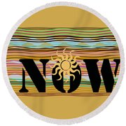 Now Wavy Round Beach Towel