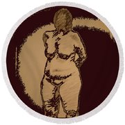 Nude Acting Round Beach Towel