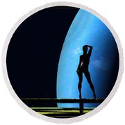 Nude Amongst The Stars... Round Beach Towel