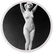 Nude Posing, 1921 Round Beach Towel