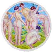 Nudes Dancing In A Ring Round Beach Towel