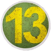 Number 13 Round Beach Towel