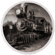 Number 4 Narrow Gauge Railroad Round Beach Towel