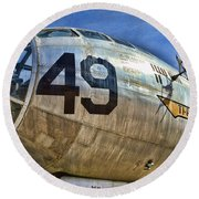 Number 49 Round Beach Towel