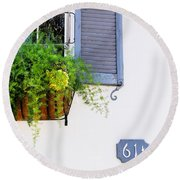Number 61 And A Quarter - Charleston S C - Travel Photographer David Perry Lawrence Round Beach Towel