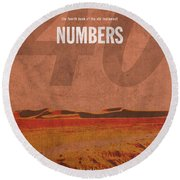 Numbers Books Of The Bible Series Old Testament Minimal Poster Art Number 4 Round Beach Towel by Design Turnpike