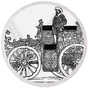 Nuremberg Carriage, 1649 Round Beach Towel