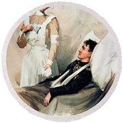 Nurse: Calendar, 1899 Round Beach Towel
