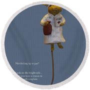 Nurse Mouse Round Beach Towel