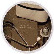Nurse - The Care Giver Round Beach Towel