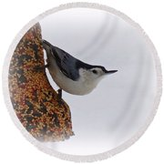 Nuthatch Bell Round Beach Towel