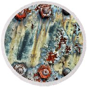 Nuts And Rivets  Round Beach Towel