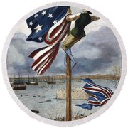 Ny: British Evacuation Round Beach Towel