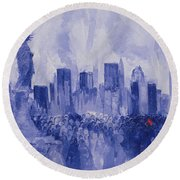 NYC Round Beach Towel