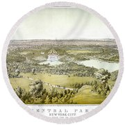 Nyc Central Park, C1859 Round Beach Towel